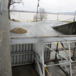 3-16-15 Flood gates in Rosiclare