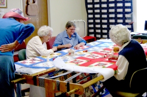 3-26-15 PIC Ladies quilting