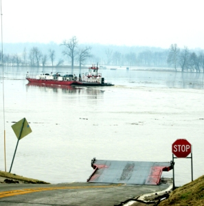 March 12 15 Ferry in flood